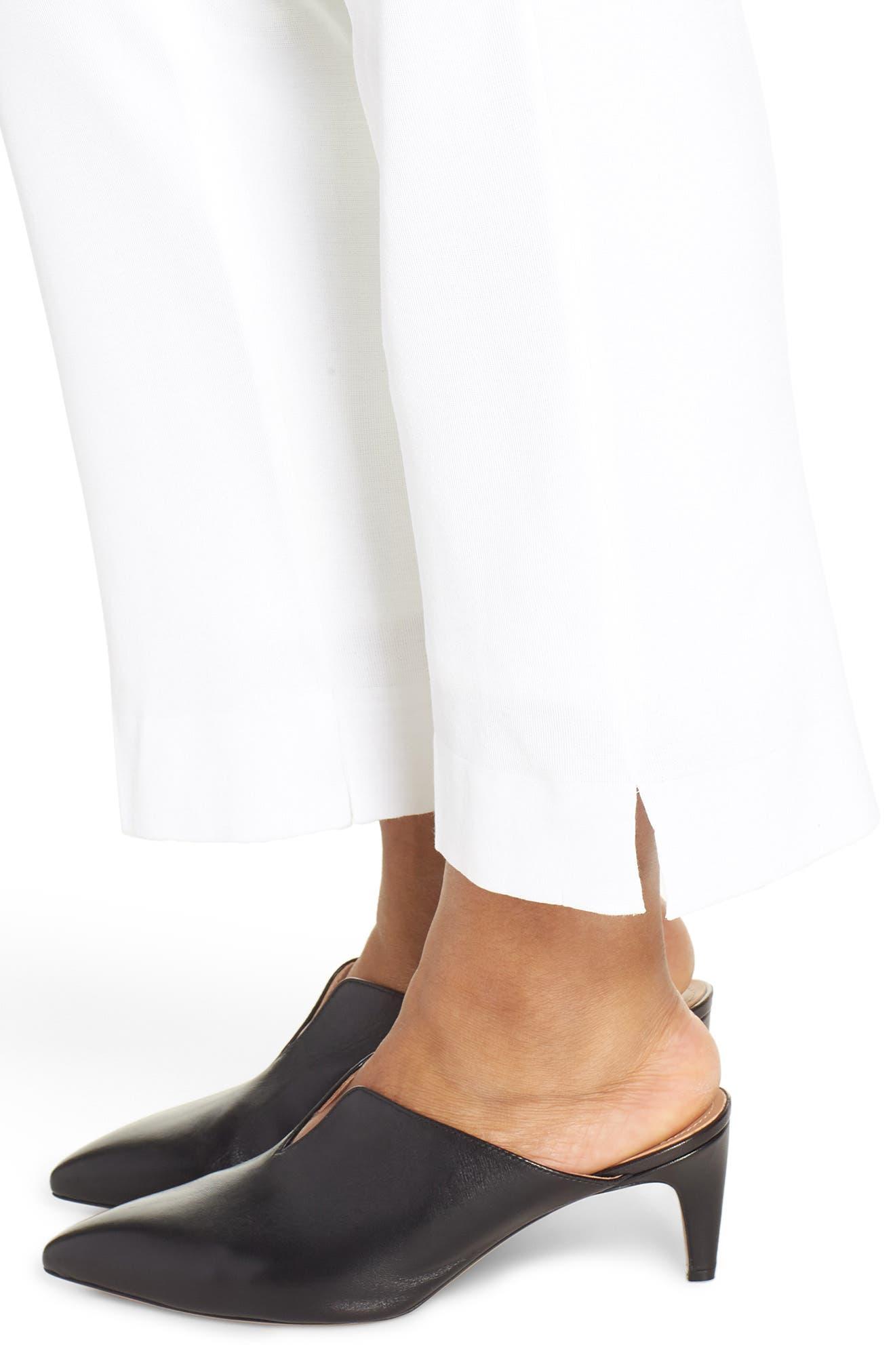 ,                             Knit Ankle Pants,                             Alternate thumbnail 5, color,                             WHITE