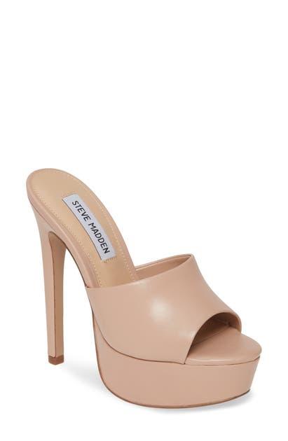 12263500321 Identity Platform Slide Sandal in Blush Leather