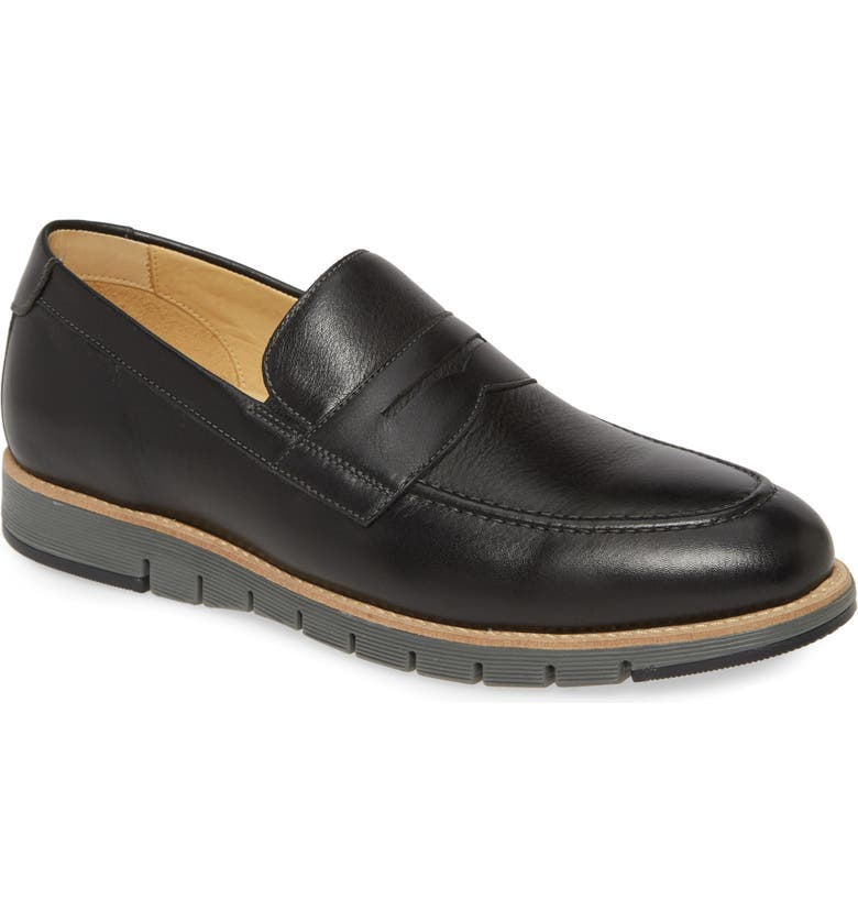 JOHNSTON & MURPHY Martell Penny Loafer, Main, color, BLACK