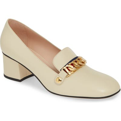 Gucci Loafer Pump - White