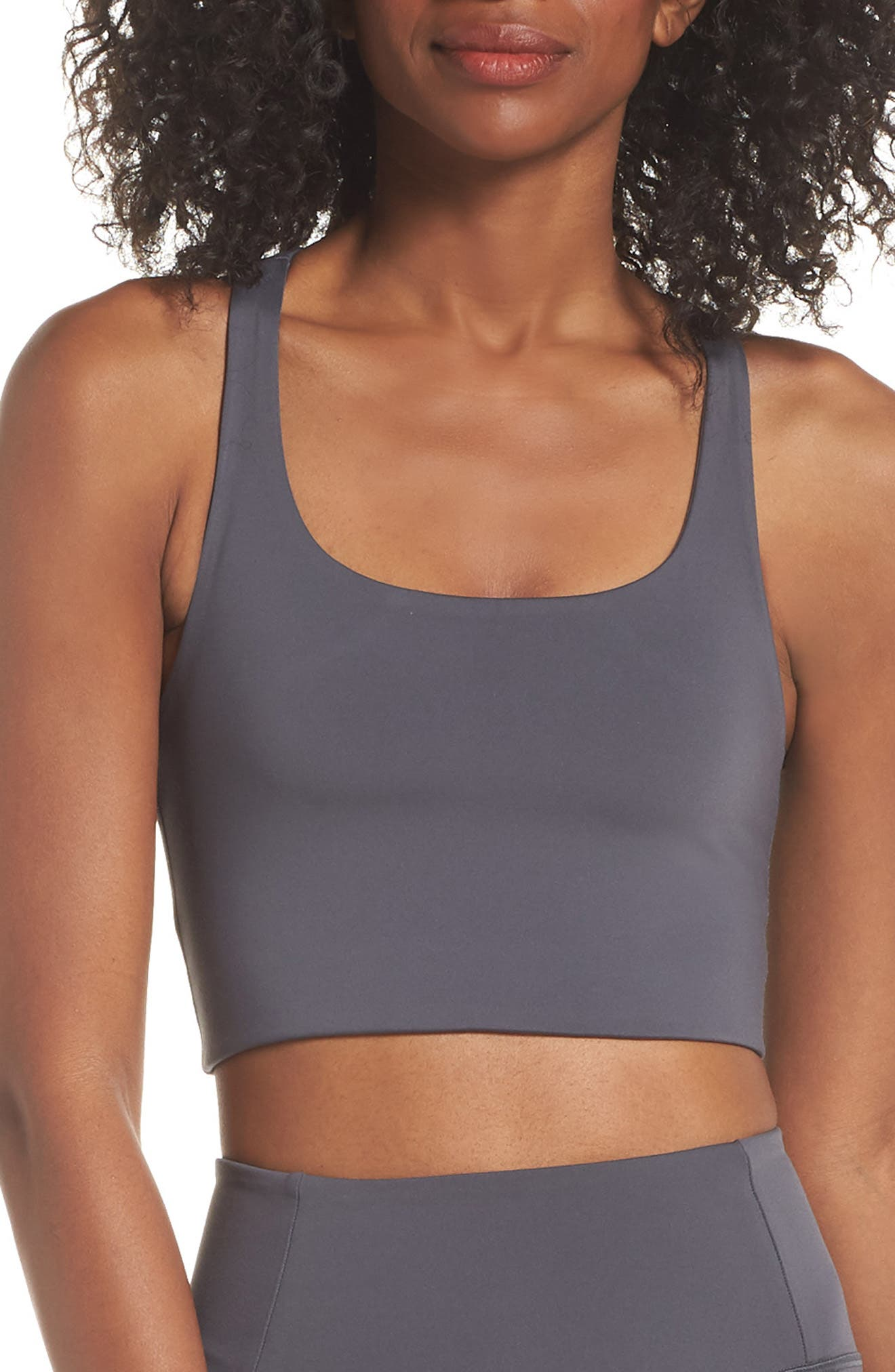 Girlfriend Collective Paloma Sports Bra, Grey