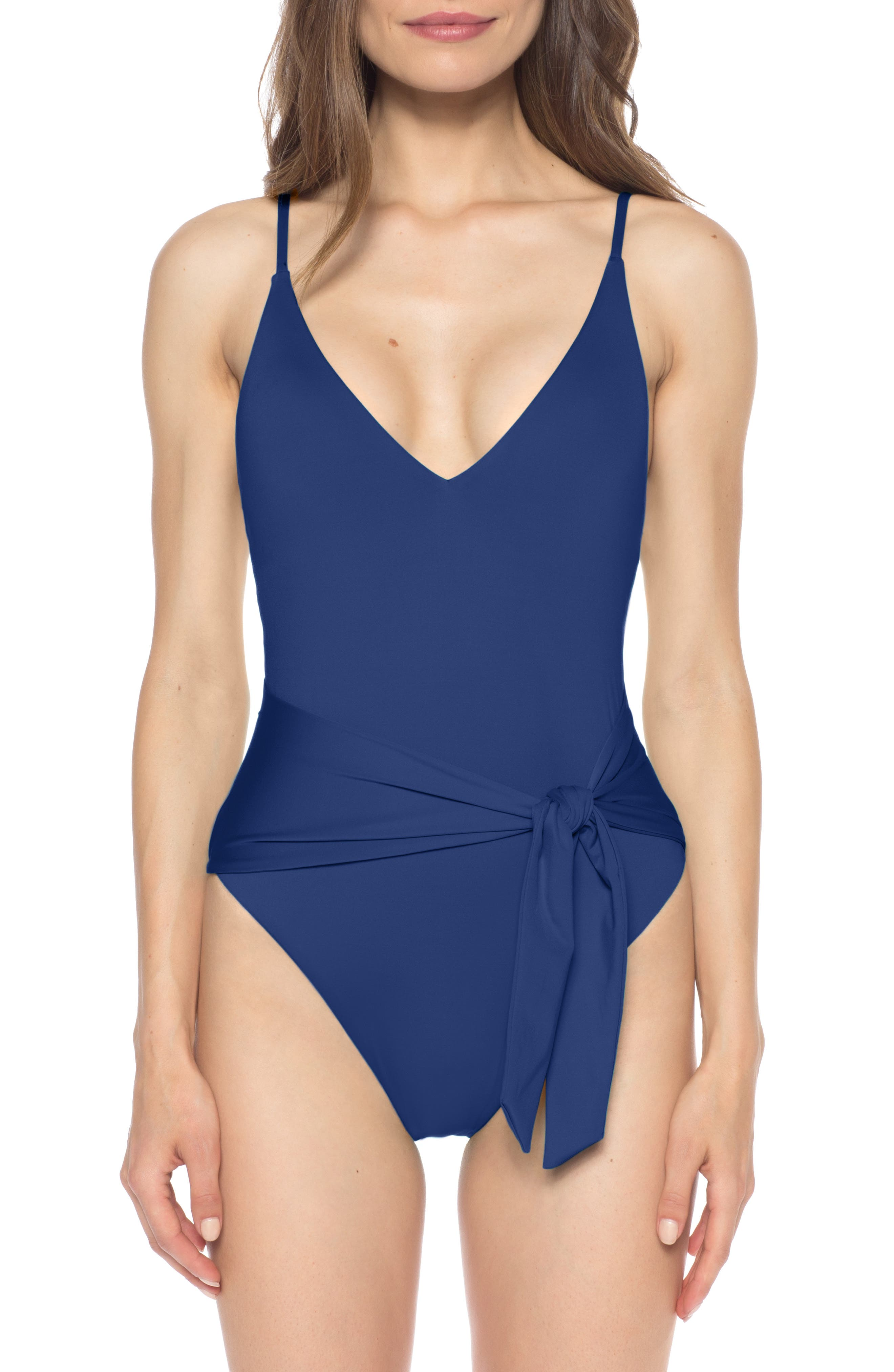 Isabella Rose Double Take One-Piece Swimsuit, Blue