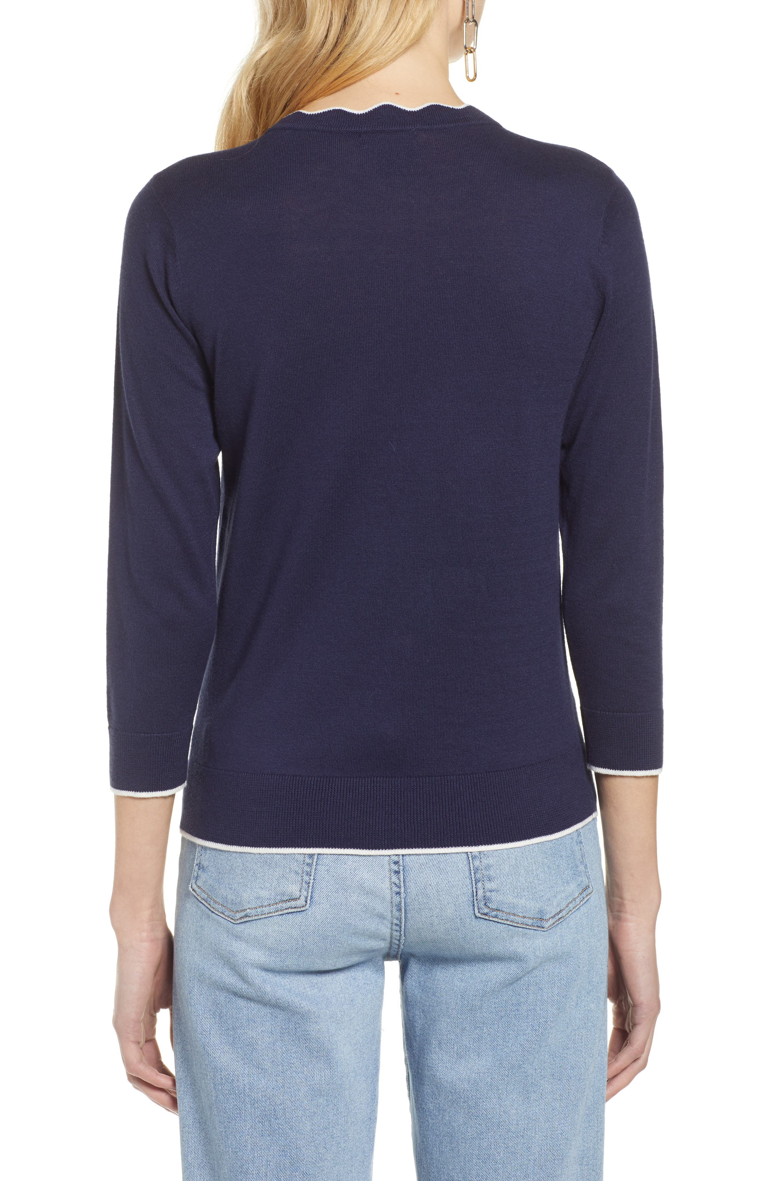 ,                             Scallop Neck Sweater,                             Alternate thumbnail 26, color,                             410