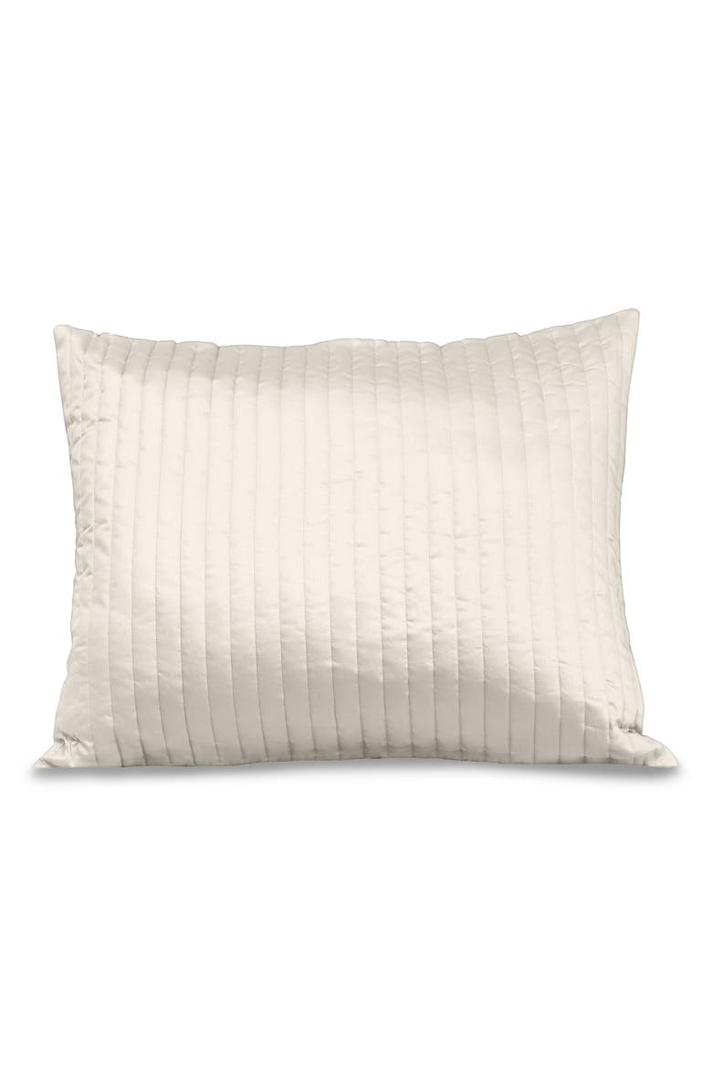 SIGNORIA FIRENZE Sienna 300 Thread Count Quilted Sham, Main, color, IVORY