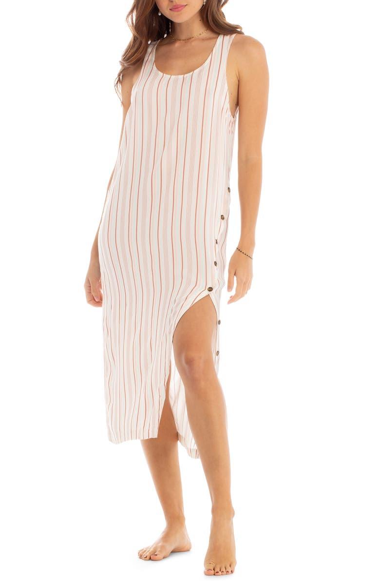 TAVIK Gia Cover-Up Midi Dress, Main, color, MULTI STRIPE