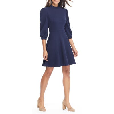 Gal Meets Glam Collection Maggie Texture Knit Fit & Flare Dress, Size - (Nordstrom Exclusive)