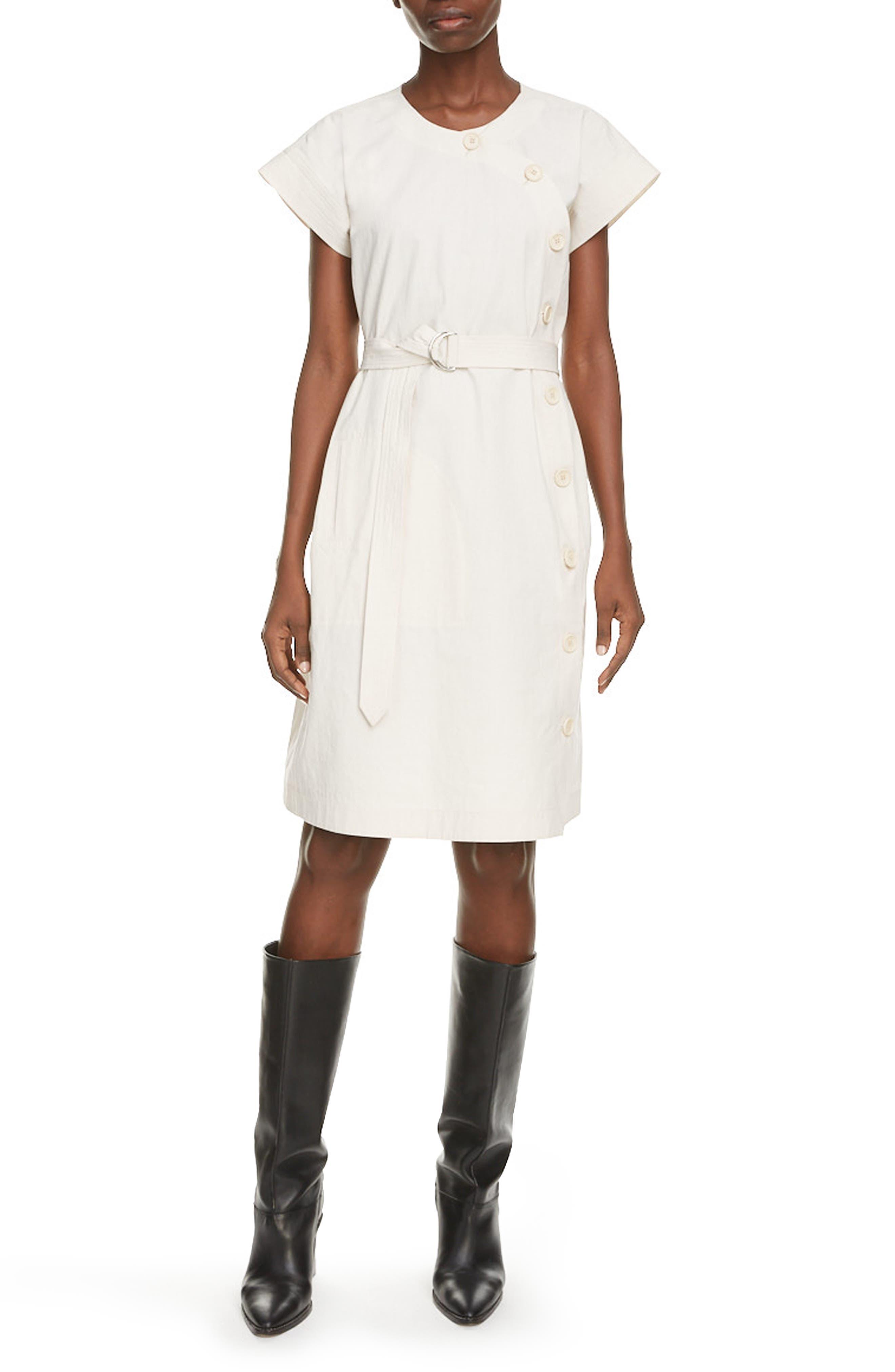 KENZO Belted Cotton Dress   Nordstrom