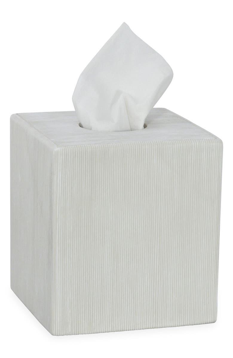 DKNY Fine Lines Ceramic Tissue Box Cover, Main, color, 100