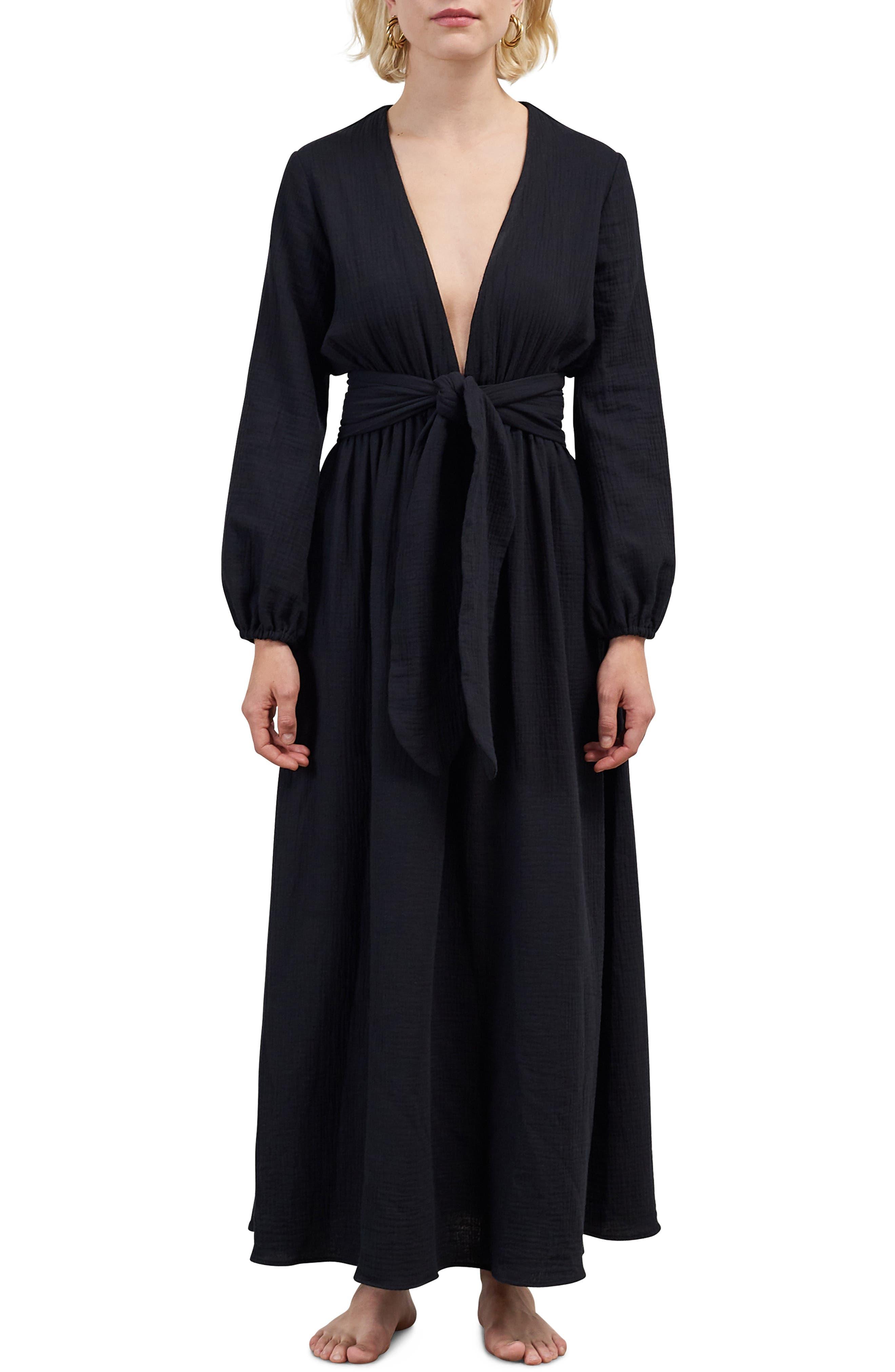 Mara Hoffman Luna Cover-Up Maxi Dress, Black