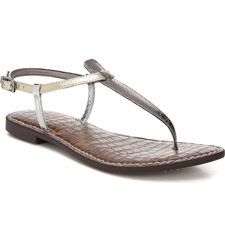 SAM EDELMAN 'Gigi' Sandal, Main, color, PEWTER/ JUTE/ SILVER