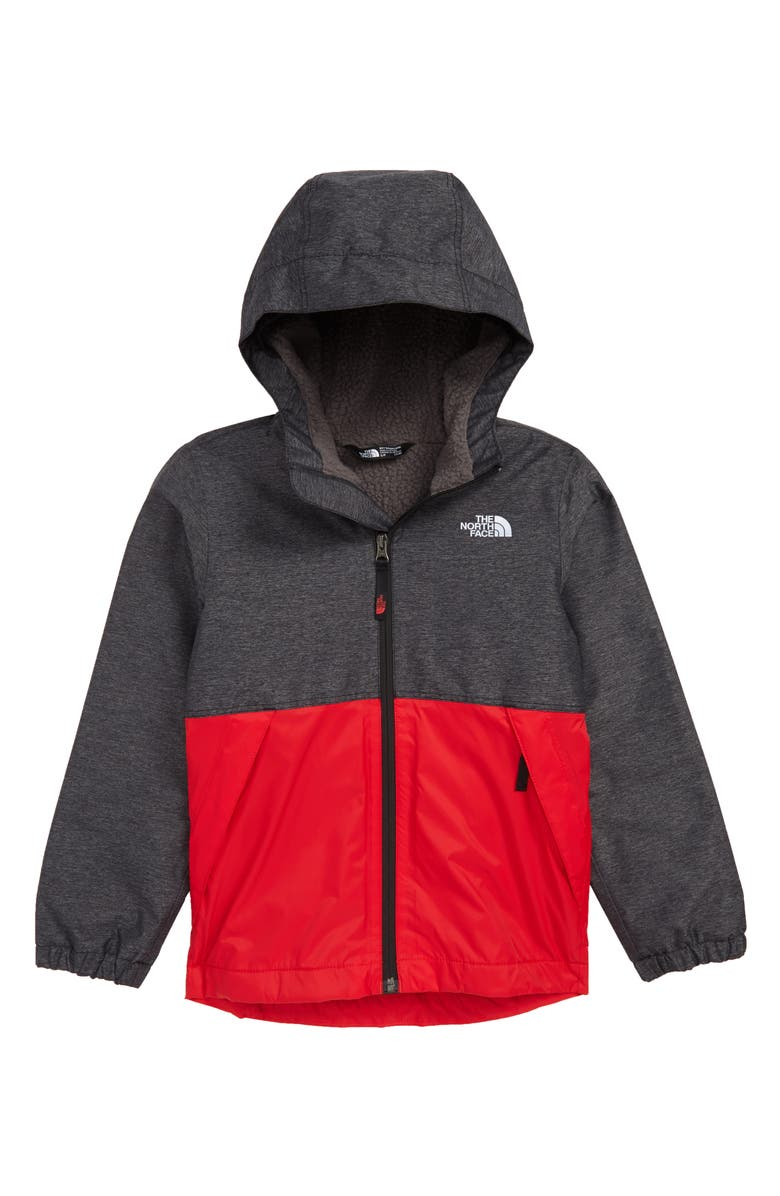 THE NORTH FACE Warm Storm Hooded Waterproof Jacket, Main, color, TNF BLACK HEATHER