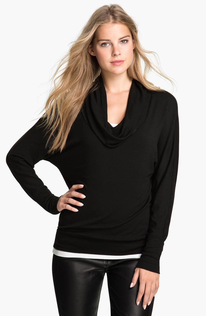 CIELO Cowl Neck Dolman Top, Main, color, 001