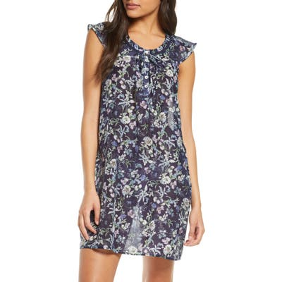 Papinelle Emmy Flutter Sleeve Nightgown, Blue
