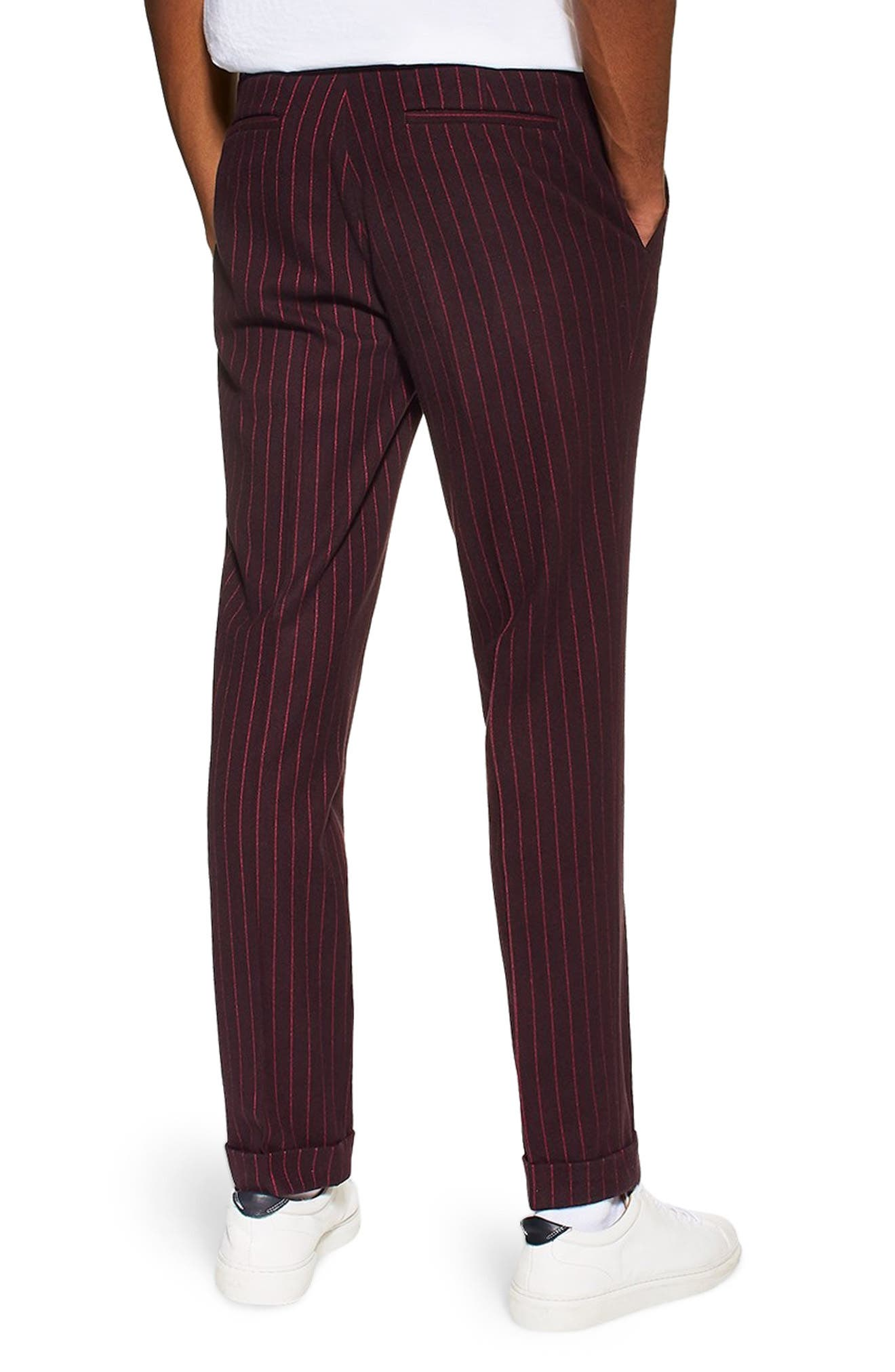 ,                             Rocky Slim Fit Pinstripe Trousers,                             Alternate thumbnail 2, color,                             NAVY BLUE
