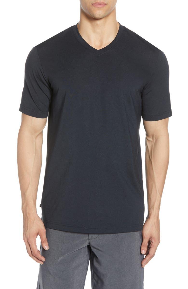 TRAVISMATHEW Potholder V-Neck T-Shirt, Main, color, BLACK