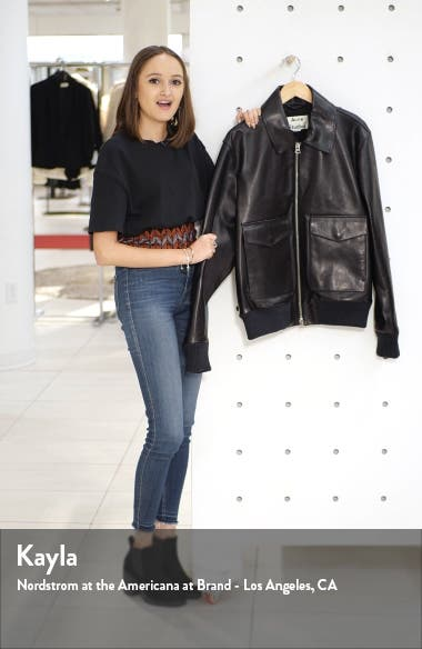 Lazlo Leather Bomber Jacket, sales video thumbnail