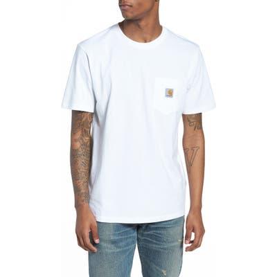 Carhartt Work In Progress Logo Pocket T-Shirt, White
