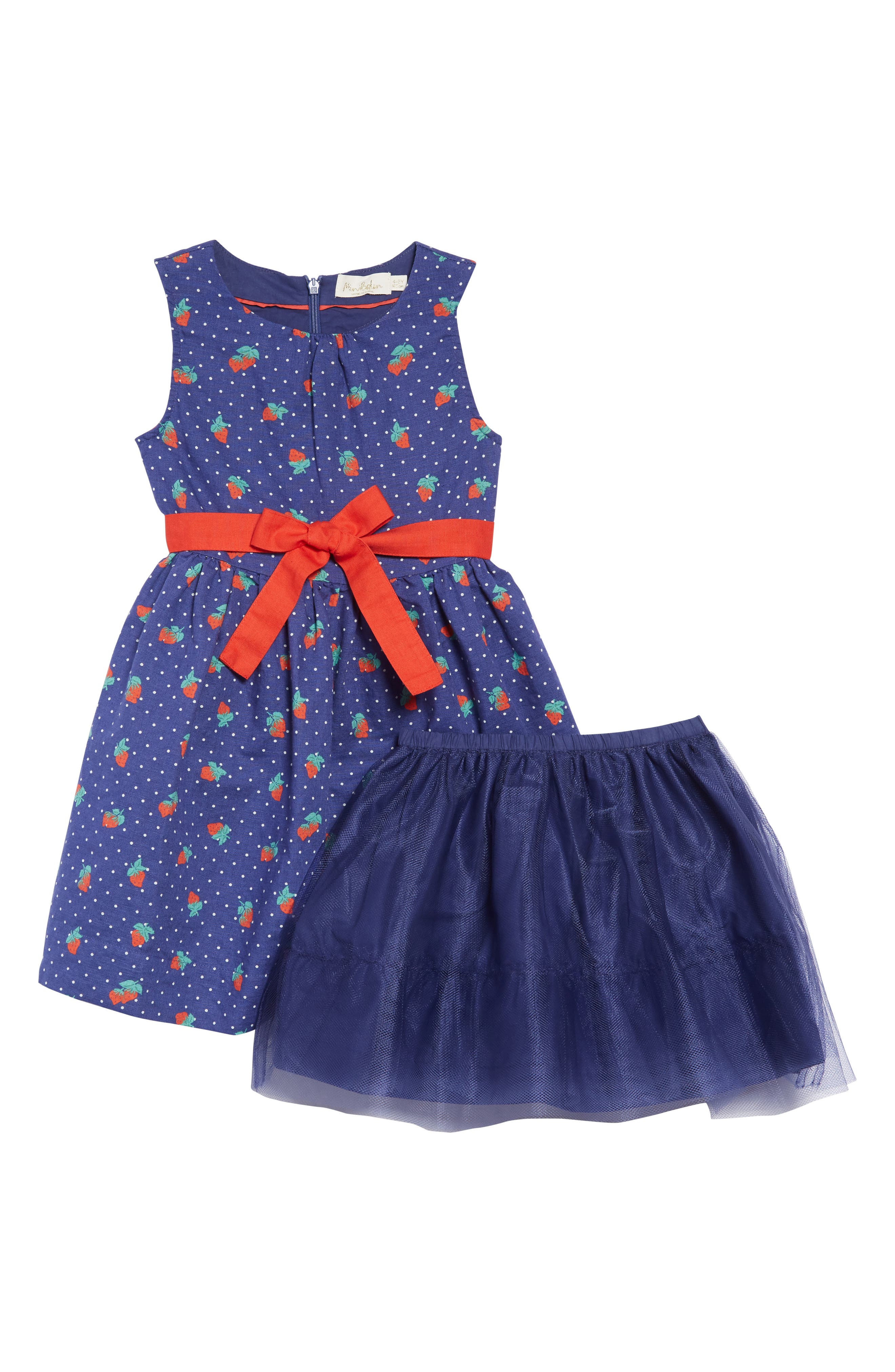 ,                             Vintage Dress,                             Alternate thumbnail 3, color,                             BLU STARBOARD BLUE STRAWBERRY
