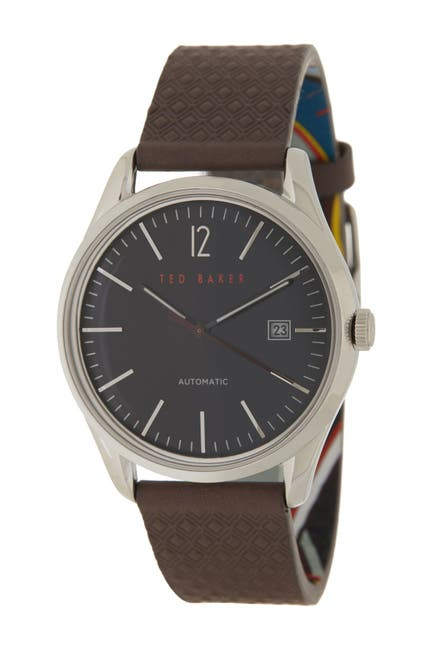 Image of Ted Baker London Men's Daquir Leather Strap Watch, 40mm