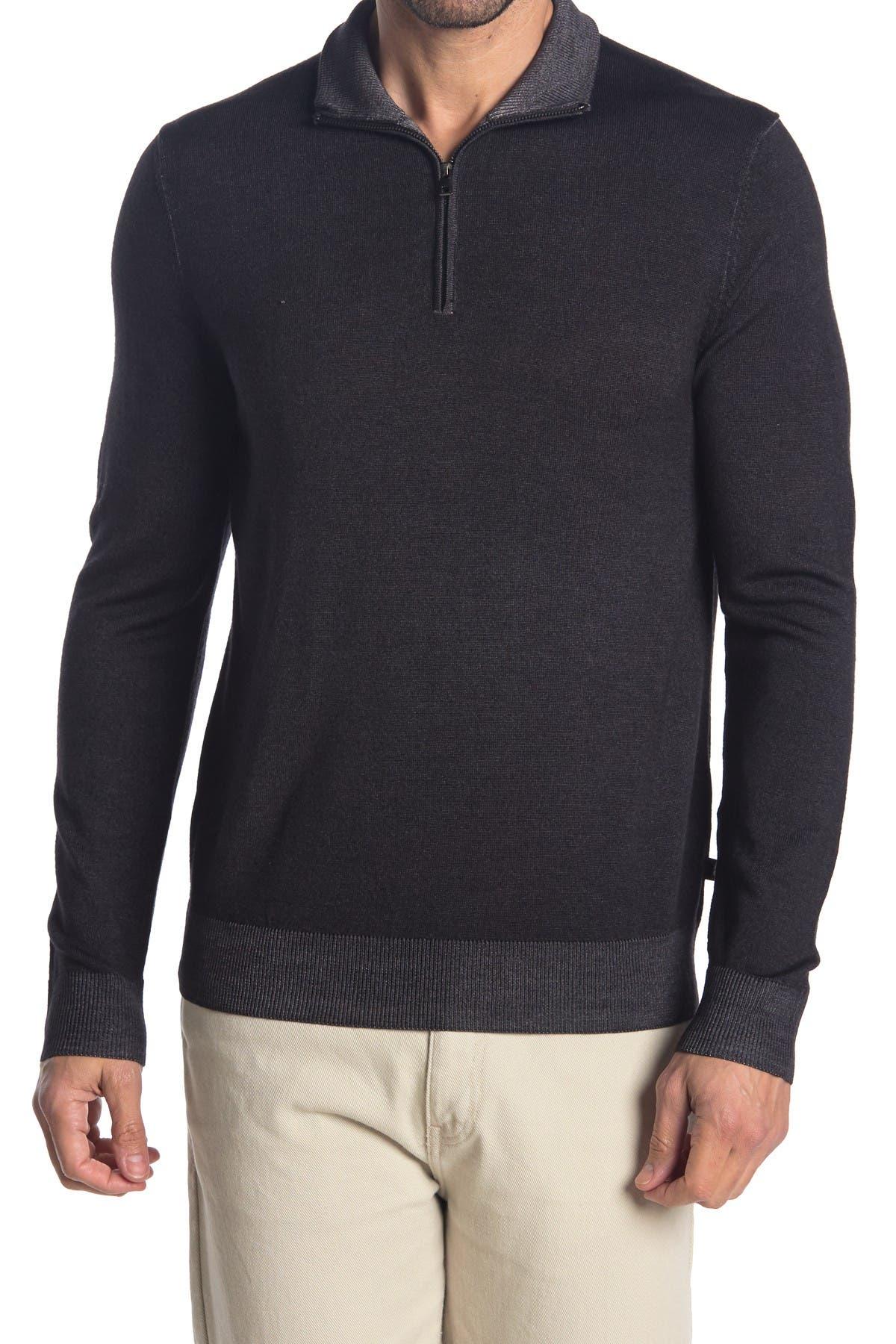 Image of Michael Kors Half Zip Knit Wool Sweater