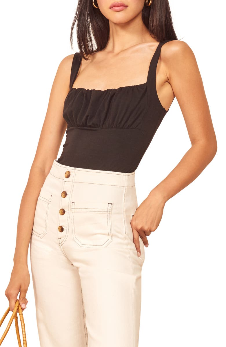 REFORMATION Nelly Tank Top, Main, color, BLACK