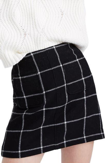 Madewell Skirts MUSEUM WINDOWPANE CHECK PATCH-POCKET MINI SKIRT