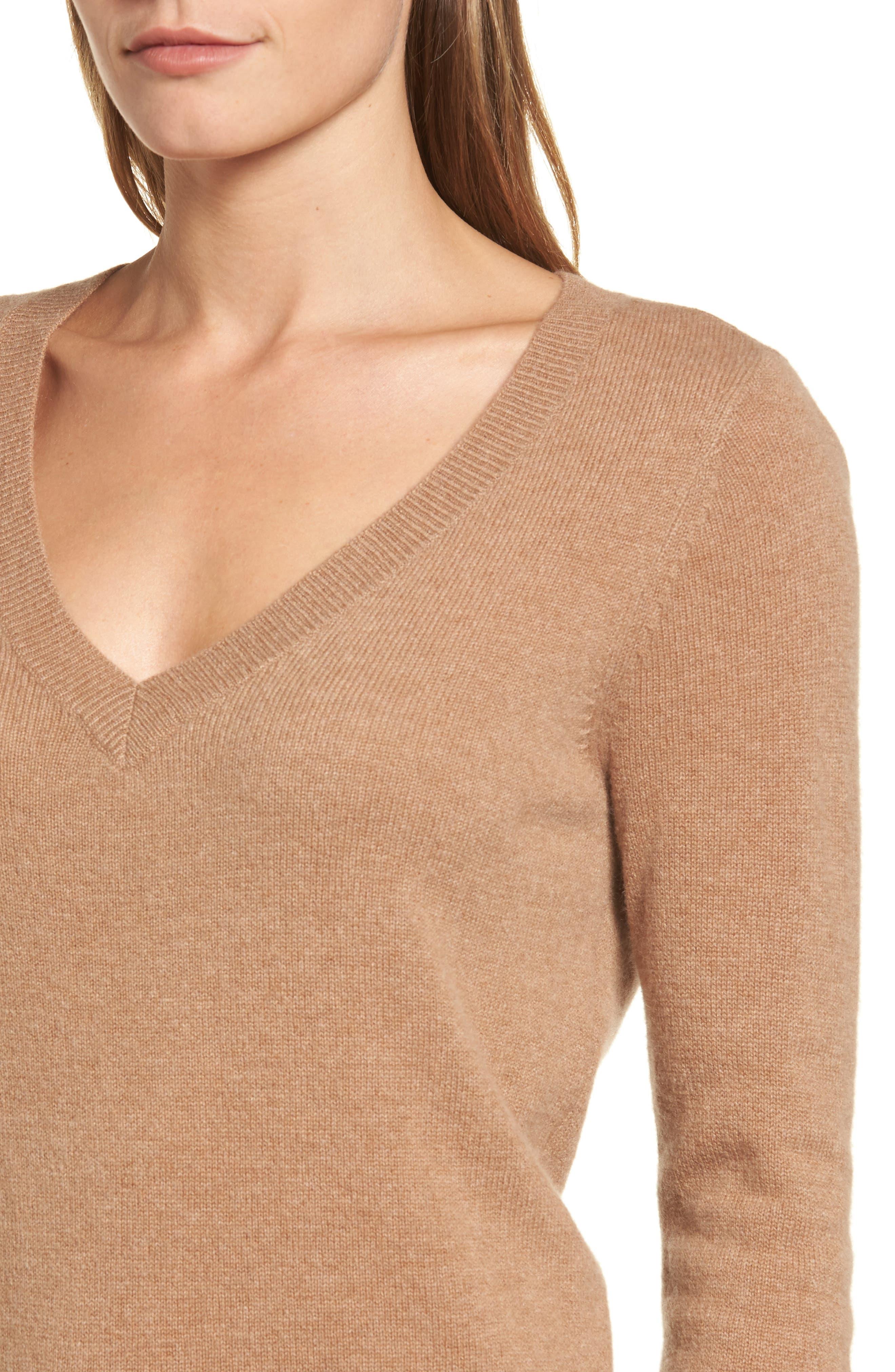 ,                             V-Neck Cashmere Sweater,                             Alternate thumbnail 27, color,                             235