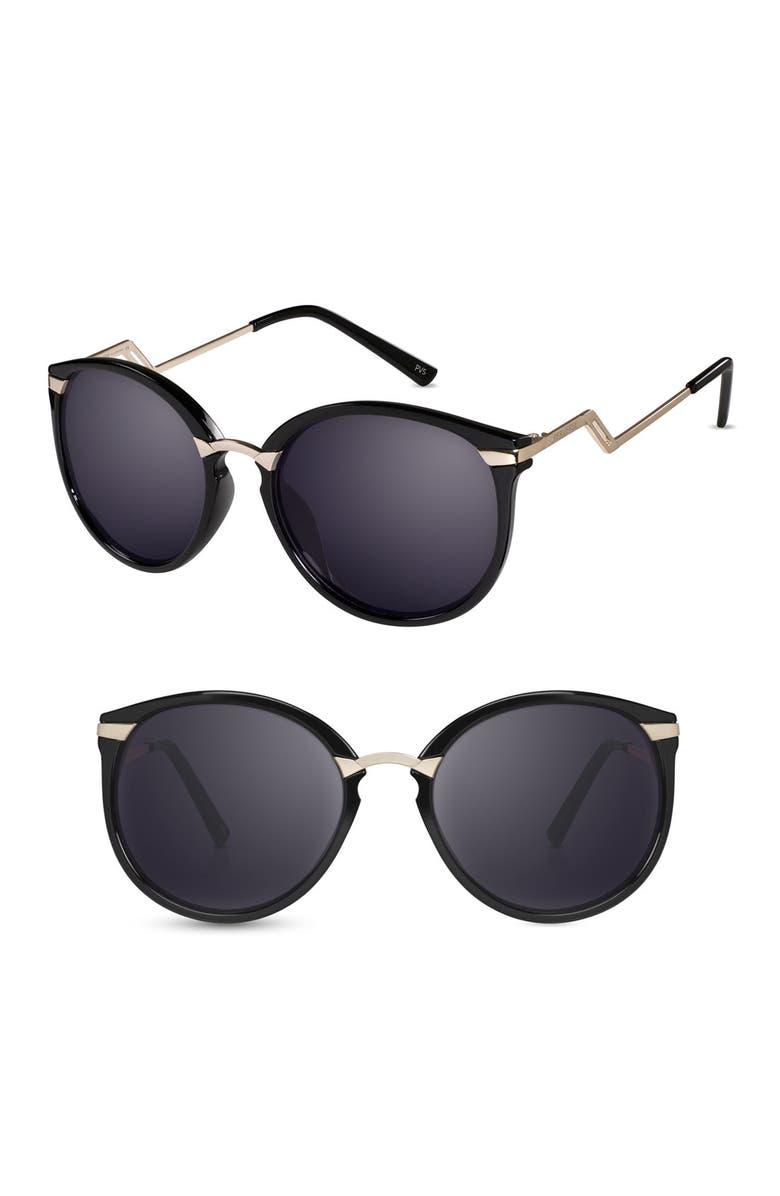 PERVERSE Dewap 55mm Gradient Sunglasses, Main, color, 001