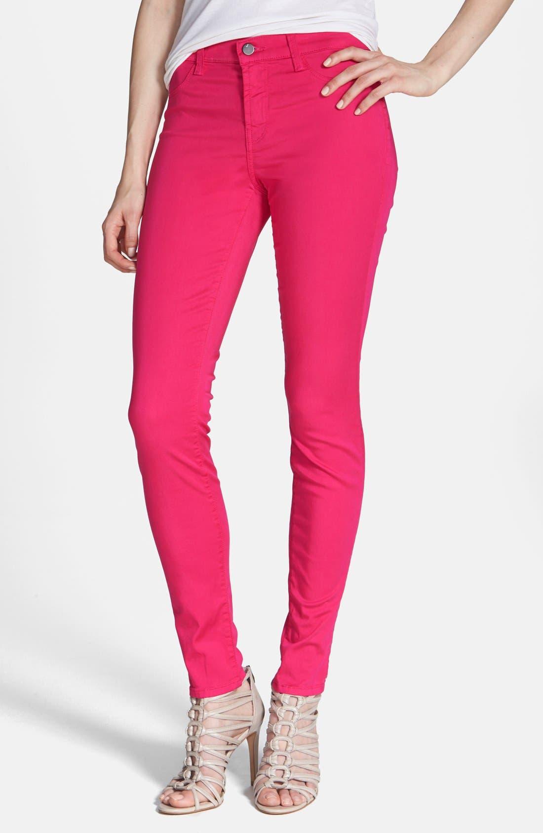 ,                             '485' Mid Rise Super Skinny Jeans,                             Alternate thumbnail 58, color,                             671