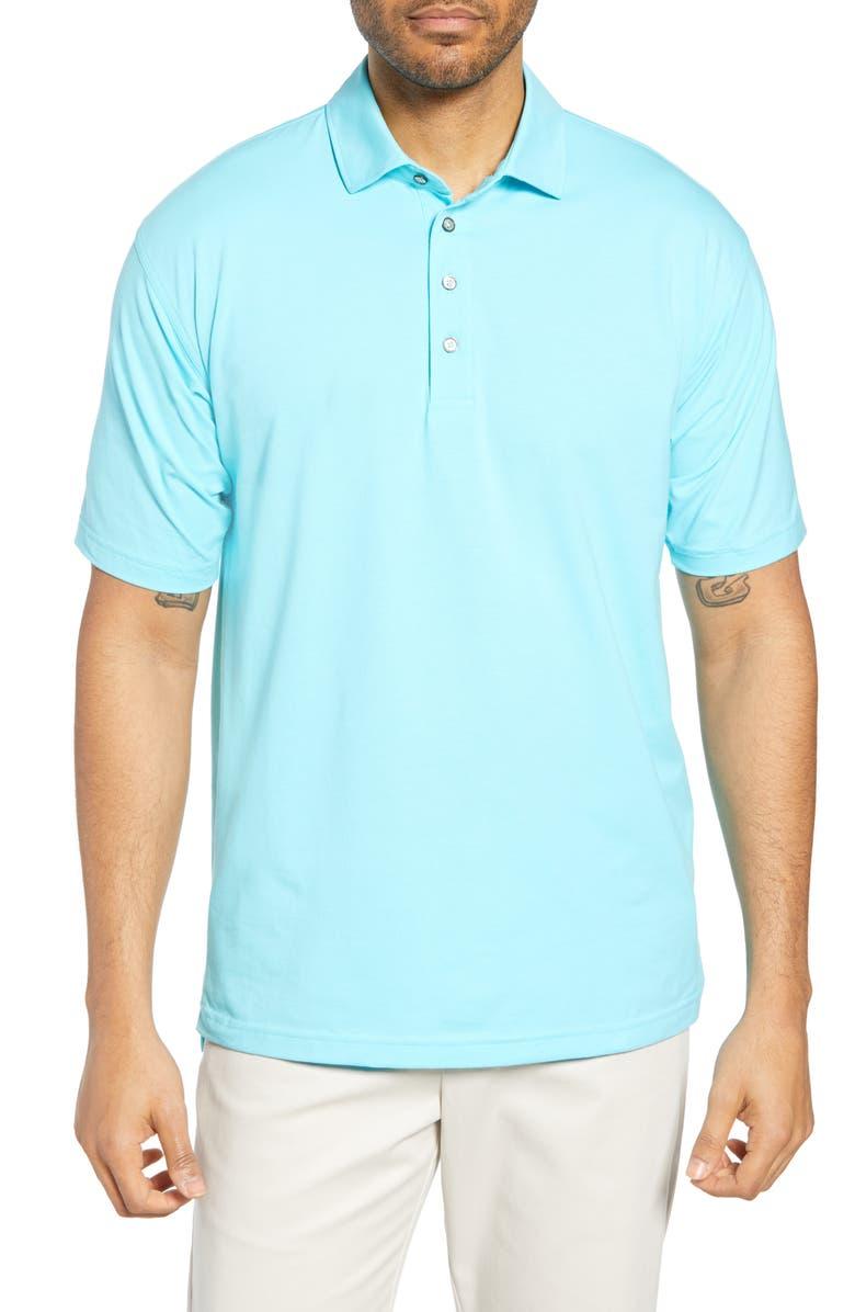 BOBBY JONES Liquid Cotton Stretch Jersey Polo, Main, color, SERENITY