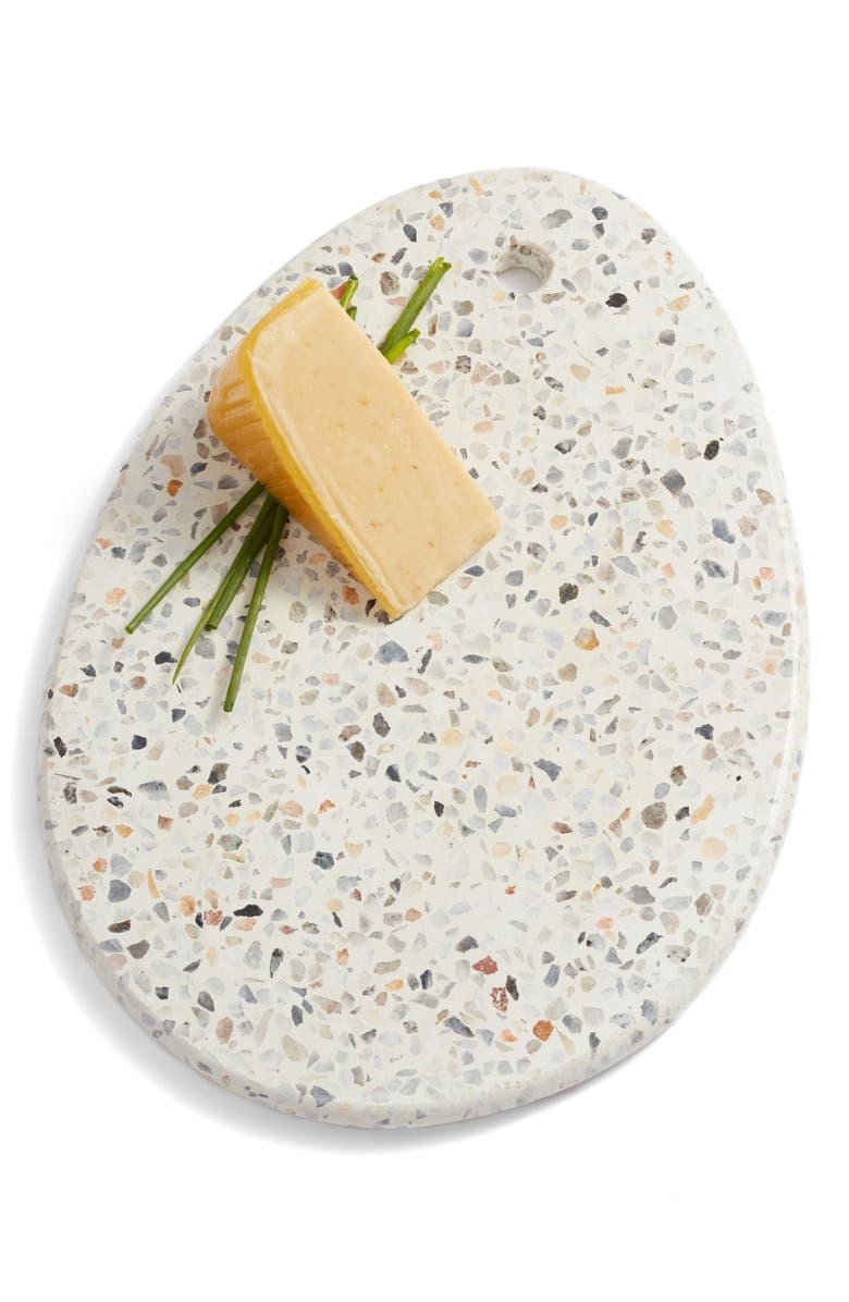 TREASURE & BOND Oval Terrazzo Marble Serving Board, Main, color, 100