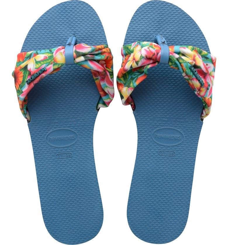 HAVAIANAS You Saint Tropez Sandal, Main, color, STEEL BLUE