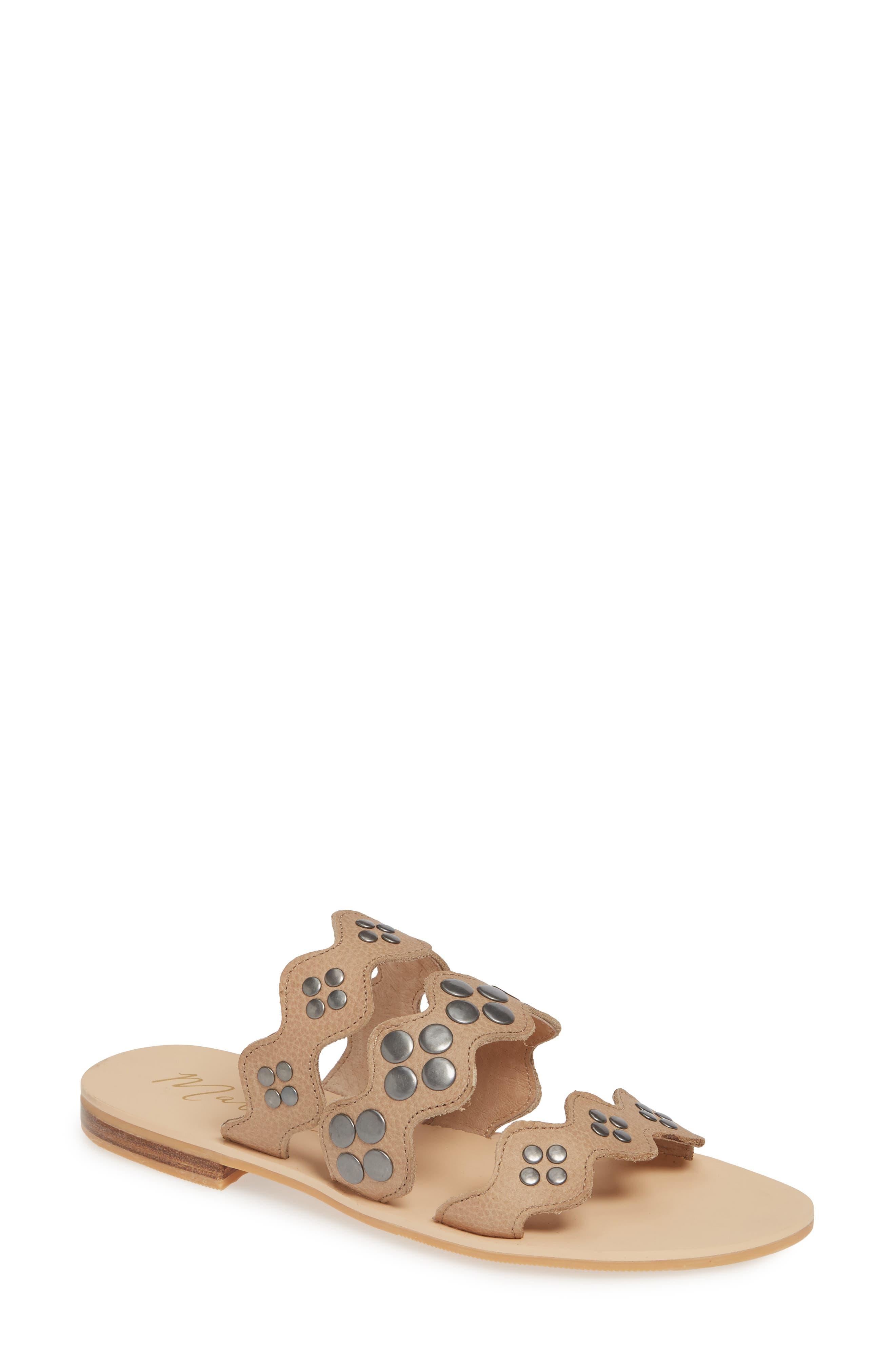 Matisse Wide Eyed Slide Sandal, Ivory
