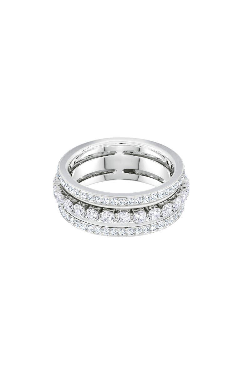 SWAROVSKI Further Band Ring, Main, color, CRYSTAL