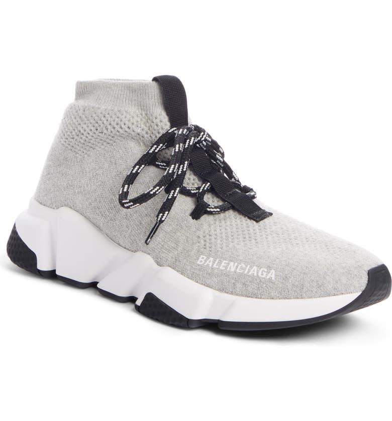 BALENCIAGA Mid Speed Lace-Up Sneaker, Main, color, GREY