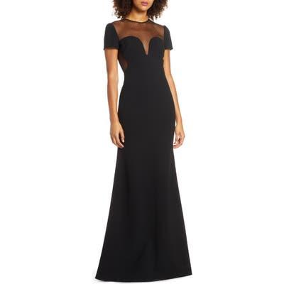 Jill Jill Stuart Dotted Mesh Gown & Stretch Crepe Trumpet Gown, Black