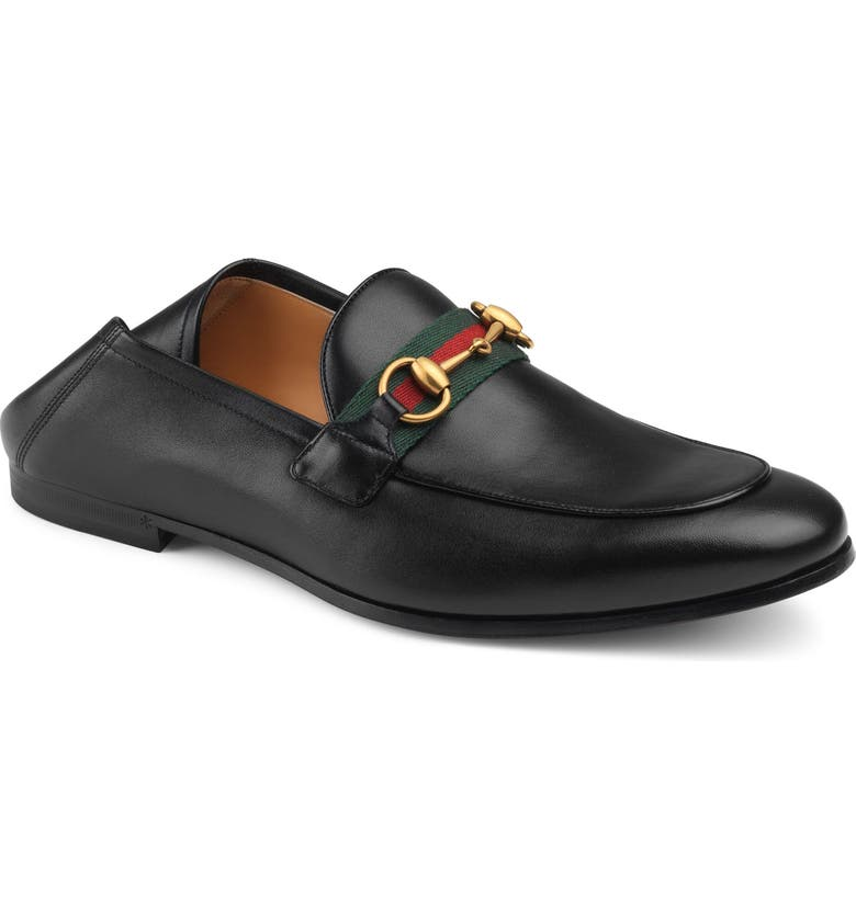 GUCCI Brixton Bit Loafer, Main, color, BLACK