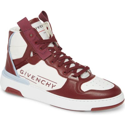Givenchy Logo High Top Sneaker, Red