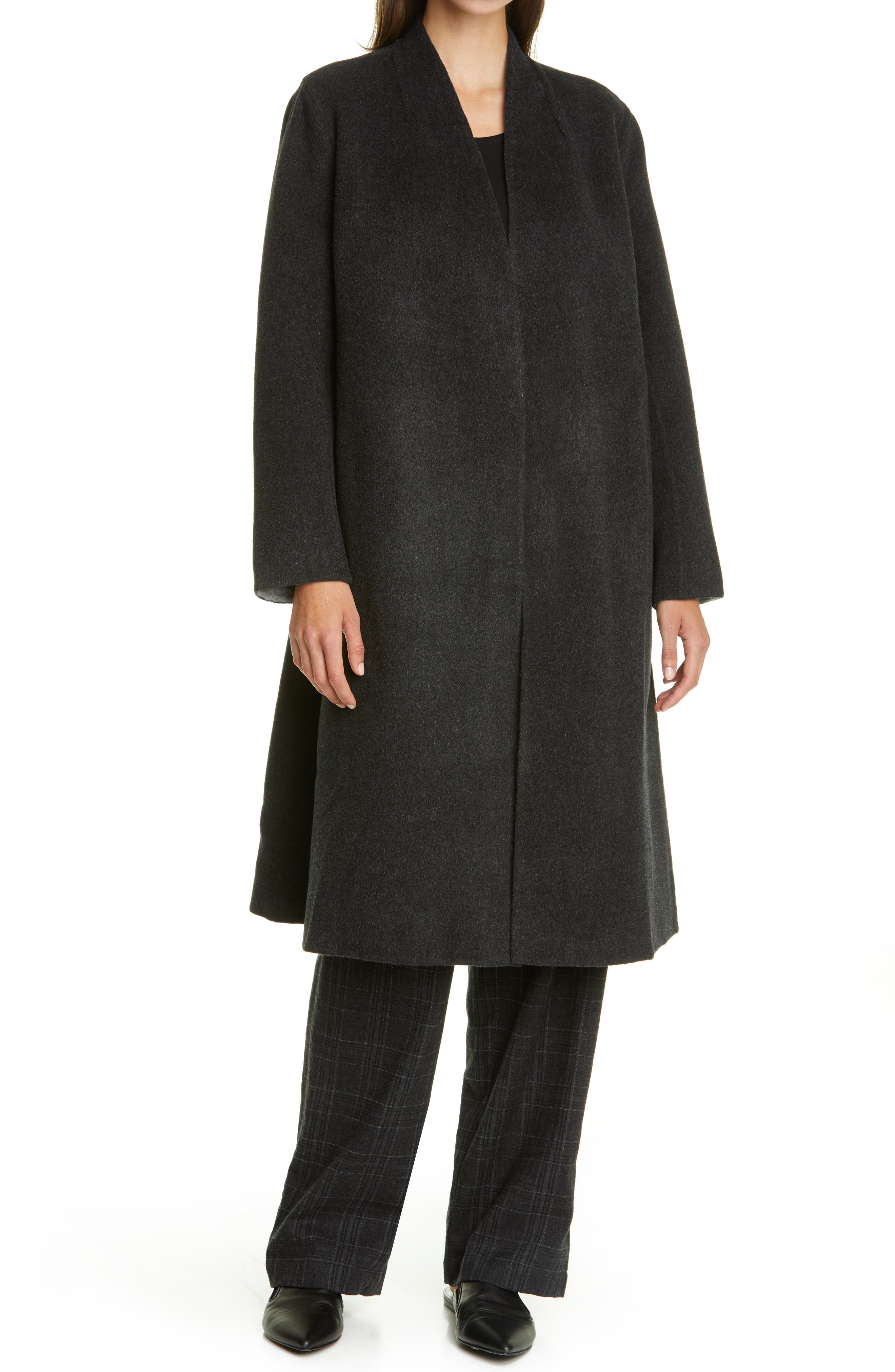 Image of Eileen Fisher Wool & Cashmere Coat