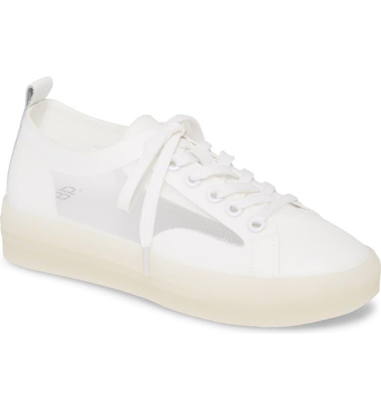BP. Della Mesh Panel Sneaker, Main, color, WHITE MESH