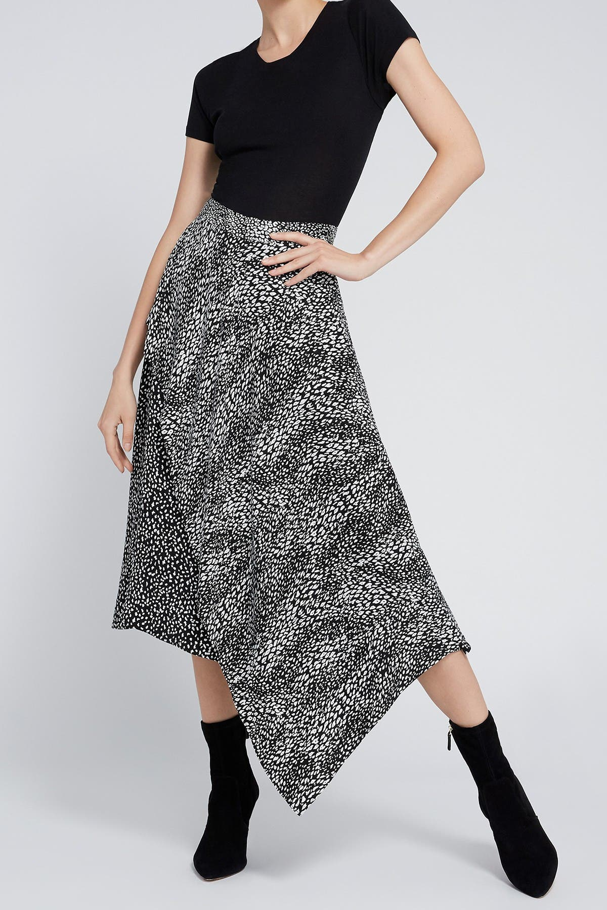 Image of alice + olivia Danita Double Layer A-Line Skirt