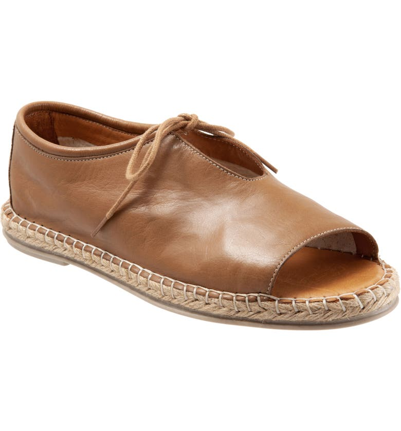 BUENO Lola Flat, Main, color, BROWN LEATHER