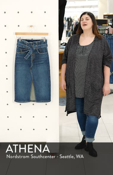 Denton High Waist Denim Skirt, sales video thumbnail