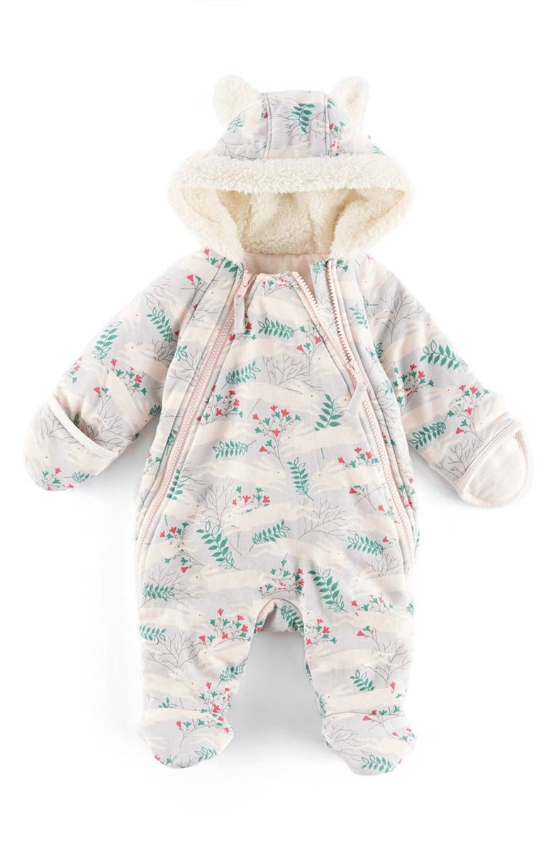 f37a313c5 Mini Boden Hooded Front Zip Snowsuit (Baby Girls) | Nordstrom