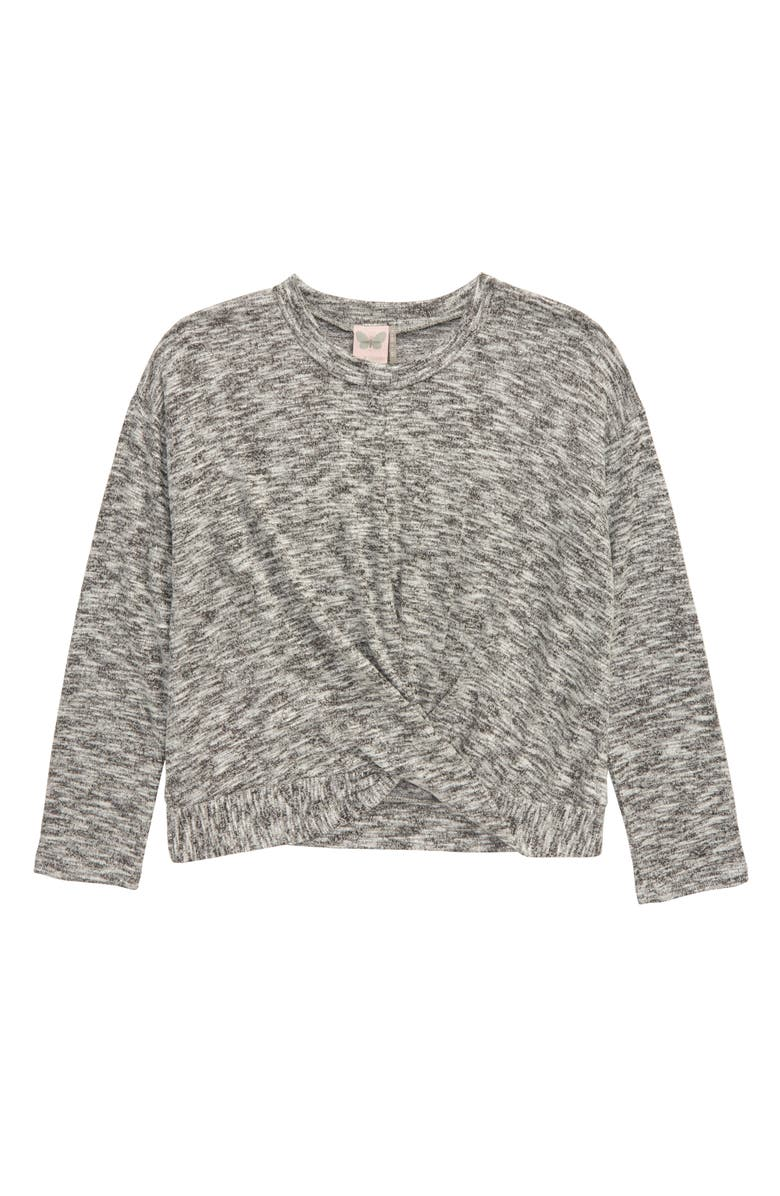 FOR ALL SEASONS Infinity Long Sleeve Top, Main, color, GRAY