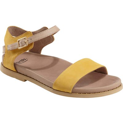 Earth Cameo Sandal, Yellow