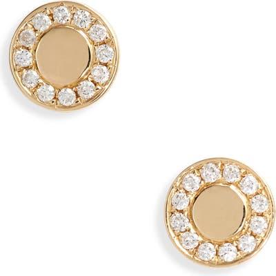 Bony Levy Kiera Diamond Medallion Stud Earrings (Nordstrom Exclusive)