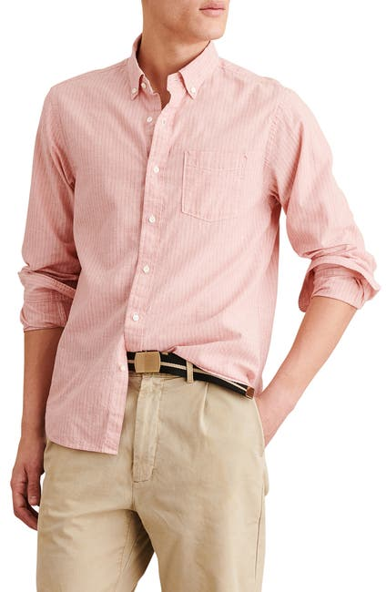 Image of ALEX MILL Stripe Print Regular Fit Shirt