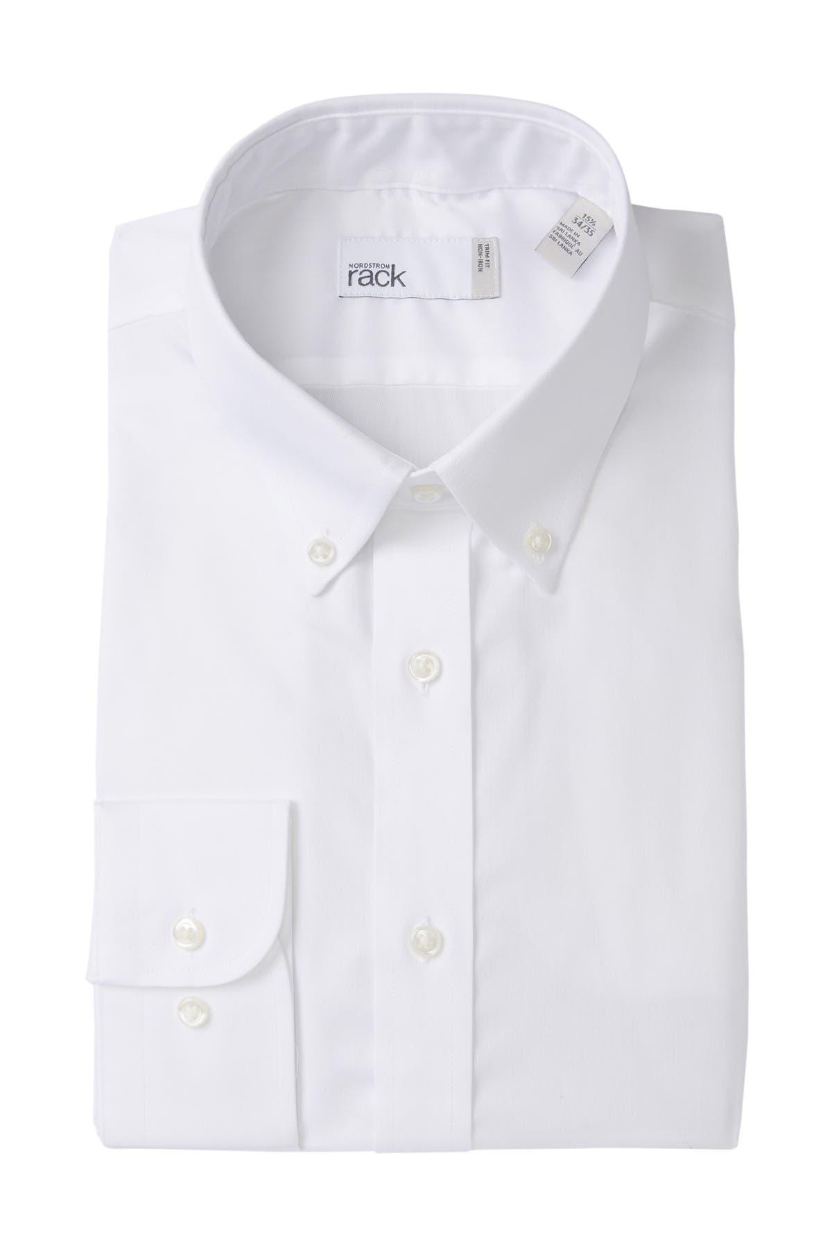 Image of Nordstrom Rack Solid Trim Fit Dress Shirt