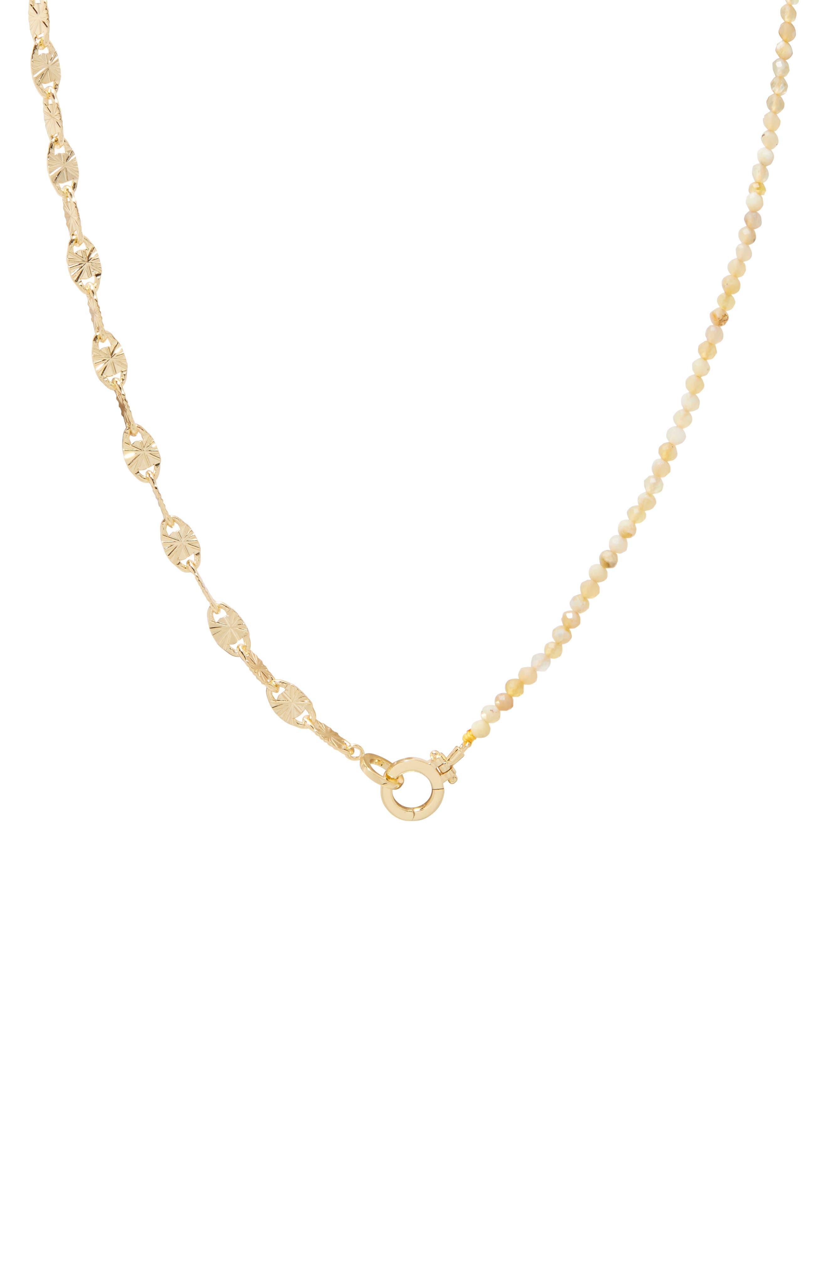 Alice Gem Asymmetrical Necklace